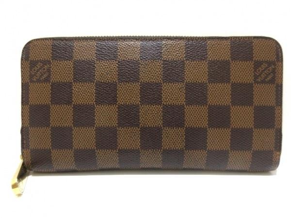 ルイヴィトン 長財布 ダミエ ジッピー・ウォレット N41661 エベヌ ダミエ・キャンバス