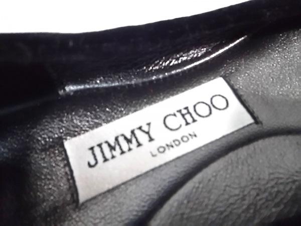 JIMMY CHOO(ジミーチュウ) フラットシューズ 36 レディース 黒 スエード