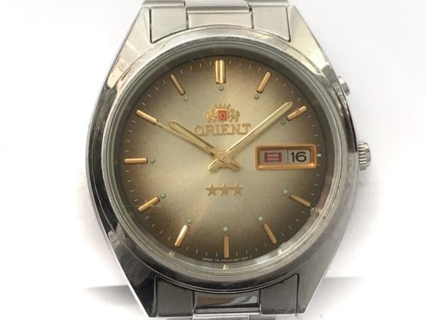 ORIENT(オリエント) 腕時計 スリースター 469WA3-81 メンズ ブラウンゴールド
