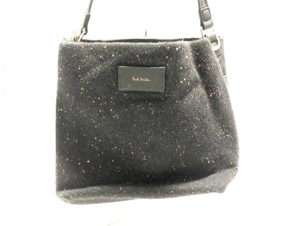 PaulSmith(ポールスミス) ハンドバッグ 黒×ピンク×レッド ウール×化学繊維
