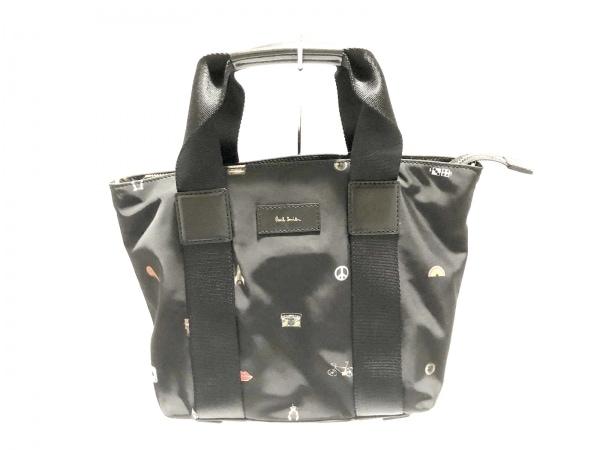 PaulSmith(ポールスミス) ハンドバッグ 黒×マルチ ナイロン