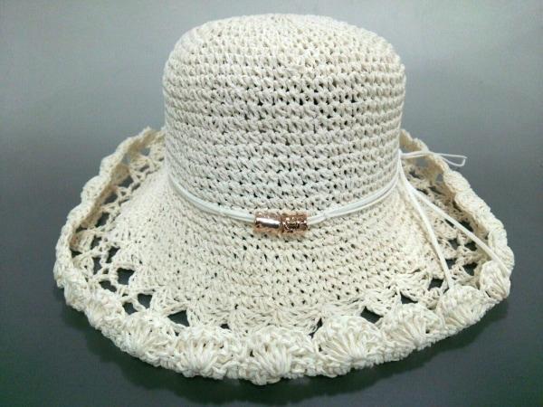 Rady(レディ) 帽子新品同様  アイボリー 指定外繊維(ペーパー)