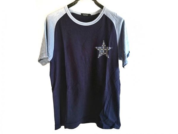 バーバリーブラックレーベル 半袖Tシャツ サイズ2 M メンズ スター/チェック柄