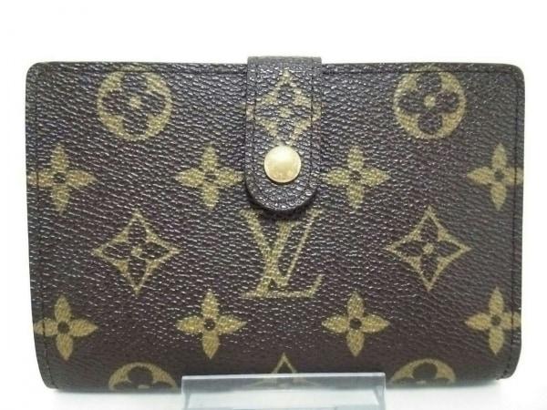 ルイヴィトン 2つ折り財布 モノグラム美品  ポルト モネ・ビエ ヴィエノワ M61663