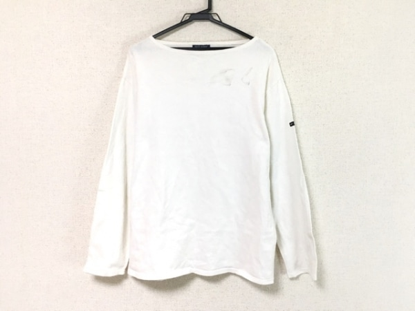 SAINT JAMES(セントジェームス) 長袖Tシャツ サイズUSA42 L メンズ 白