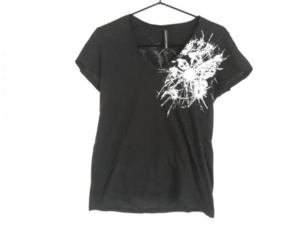ブラックバレットバイニールバレット 半袖Tシャツ サイズ1 S メンズ 黒×白×グレー