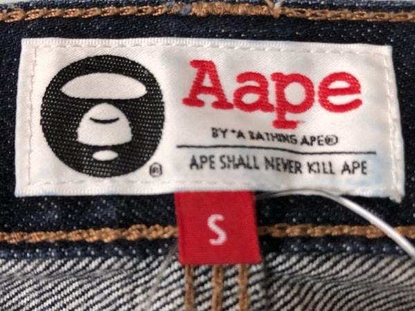 A BATHING APE(ア ベイシング エイプ) ハーフパンツ サイズS メンズ美品  ネイビー