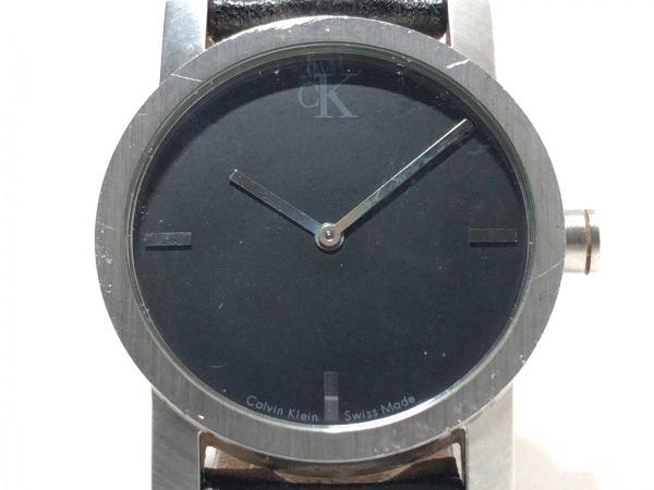 CalvinKlein(カルバンクライン) 腕時計 K7111 メンズ 革ベルト 黒