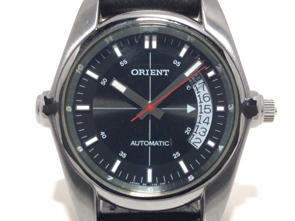 ORIENT(オリエント) 腕時計 PF0E-D0 メンズ 革ベルト 黒