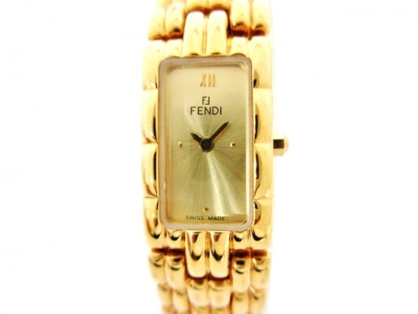 FENDI(フェンディ) 腕時計美品  670L レディース ゴールド