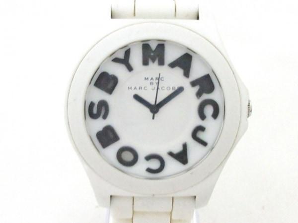 マークジェイコブス 腕時計美品  MBM4005C レディース ラバーベルト 白