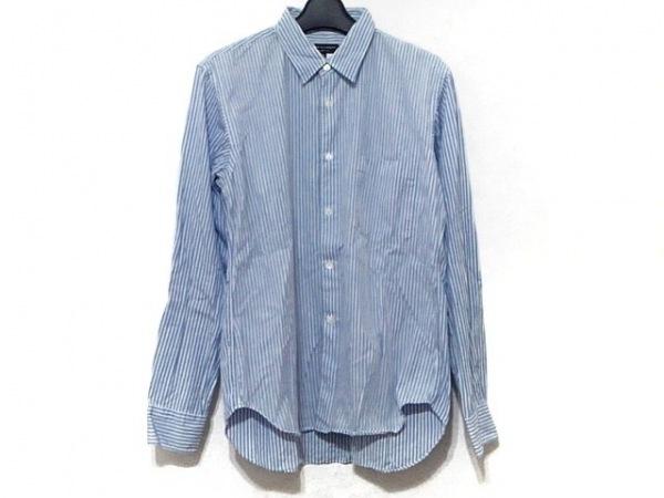 コムデギャルソンオムプリュス 長袖シャツ サイズXS メンズ 白×ライトブルー