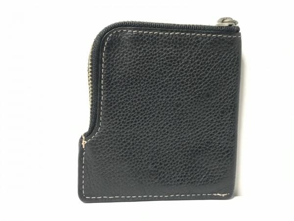CalvinKlein(カルバンクライン) コインケース 黒×アイボリー 刺繍 レザー