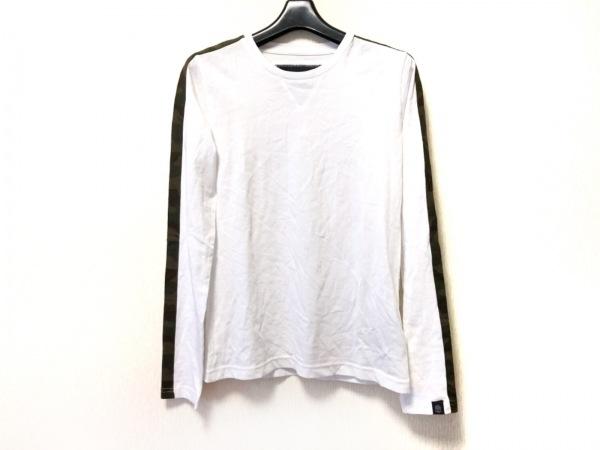 ハイドロゲン 長袖Tシャツ サイズM レディース美品  白×ダークグリーン×マルチ