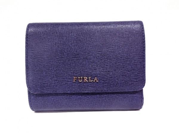 FURLA(フルラ) 2つ折り財布 パープル レザー