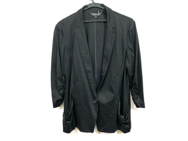INDIVI(インディビ) ジャケット サイズ44 L レディース 黒