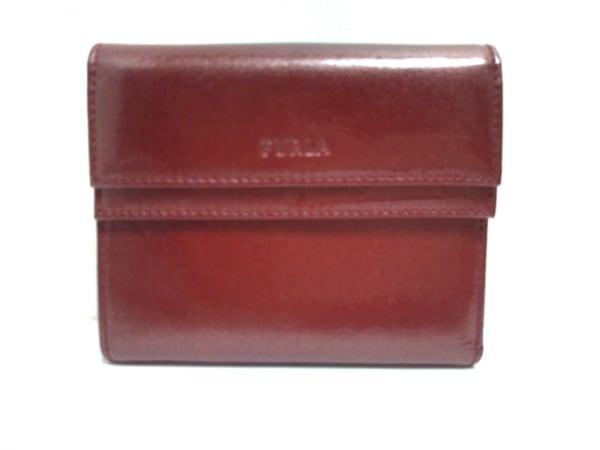 FURLA(フルラ) 3つ折り財布 ボルドー エナメル(レザー)