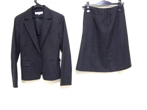 ナチュラルビューティー ベーシック スカートスーツ サイズS レディース ストライプ