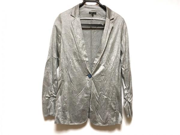 INDIVI(インディビ) ジャケット サイズ38 M レディース美品  ライトグレー