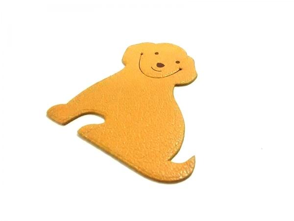 エルメス 小物新品同様  ピカブック ベージュ×ブラウン ブックマーク/犬 シェーブル
