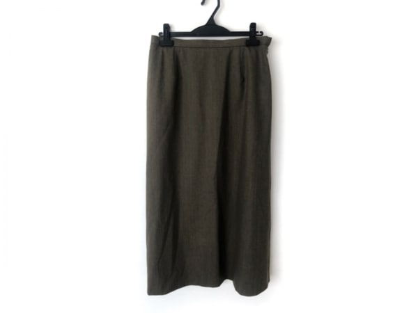 Burberry's(バーバリーズ) ロングスカート サイズ15 L レディース美品  カーキ