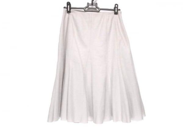 YUKITORII(ユキトリイ) スカート サイズ38 M レディース ベージュ プリーツ