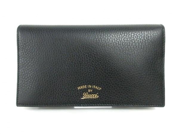 GUCCI(グッチ) 財布新品同様  スウィング 368231 黒 ショルダーウォレット レザー