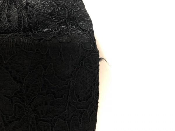 MUGUET(ミュゲ) トートバッグ ベージュ×黒 リボン/レース 化学繊維