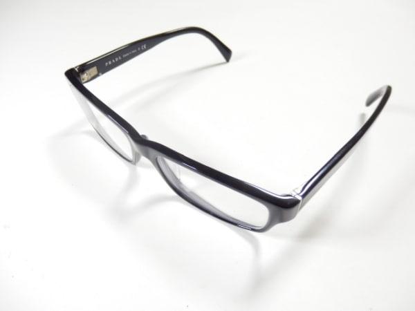 PRADA(プラダ) メガネ VPR06O クリア×黒 度入り プラスチック