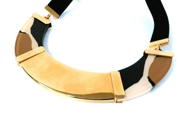 マルニ ネックレス美品  金属素材×プラスチック×ナイロン ゴールド×黒×マルチ