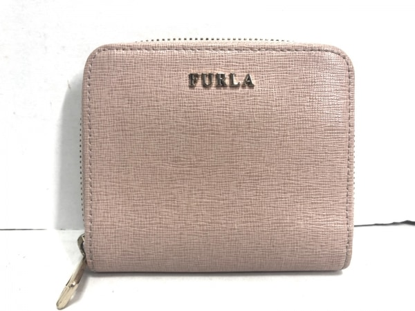 FURLA(フルラ) 2つ折り財布 ベージュ ラウンドファスナー レザー