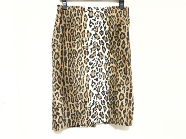 モスキーノ チープ&シック スカート サイズ38 S レディース ブラウン×黒×白 豹柄