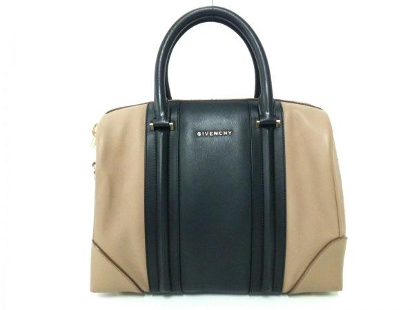GIVENCHY(ジバンシー) ハンドバッグ - 黒×ダークブラウン レザー