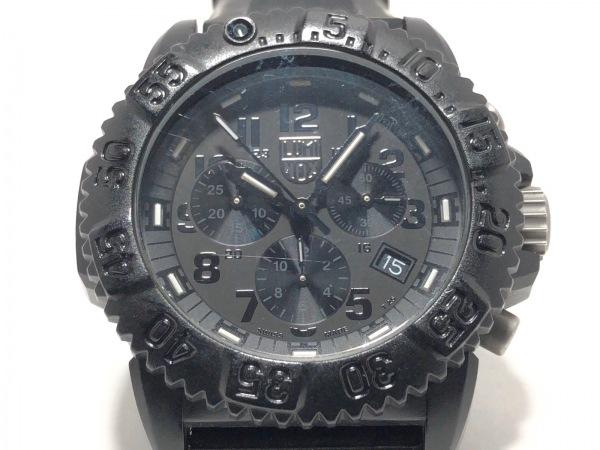 LUMINOX(ルミノックス) 腕時計 シールズ 3080 メンズ ラバーベルト/クロノグラフ 黒