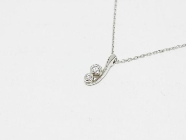 スタージュエリー ネックレス美品  Pt950×ダイヤモンド 2Pダイヤ/0.03カラット