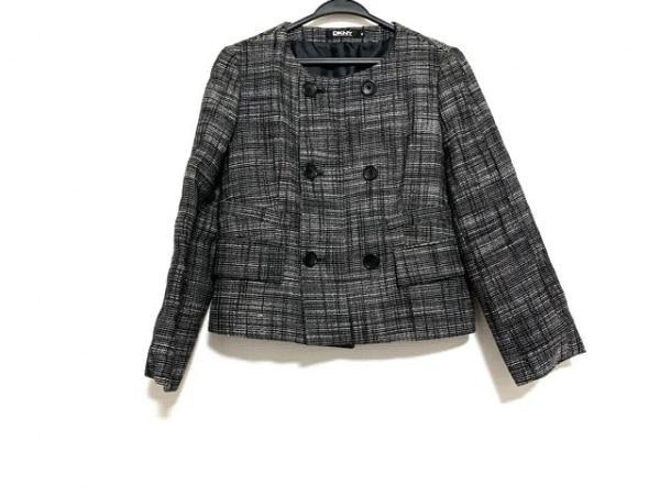 DKNY(ダナキャラン) ジャケット サイズ6 M レディース美品  黒×白 チェック柄