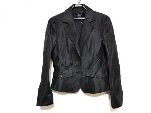 ランバンコレクション ジャケット サイズ38 M レディース美品  黒 ラメ