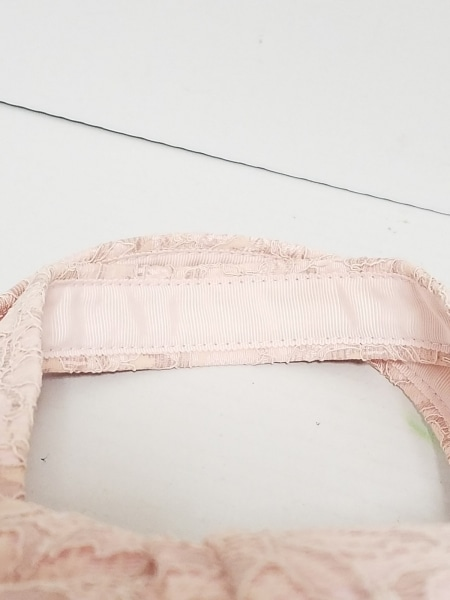 MUGUET(ミュゲ) トートバッグ ピンク レース/花柄/リボン 化学繊維