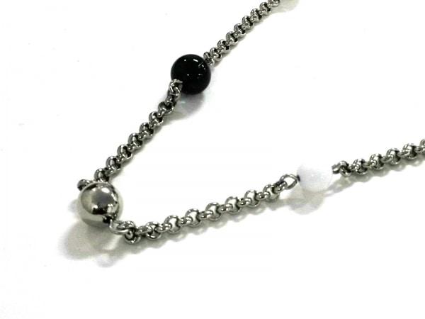 アルマーニコレッツォーニ ネックレス美品  金属素材×プラスチック シルバー×黒×白
