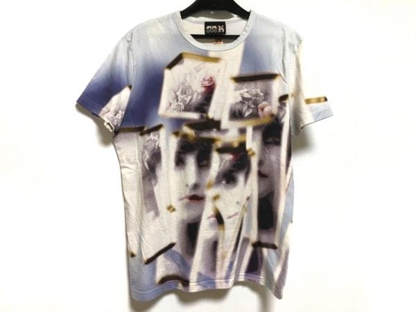 ゴルチエ 半袖Tシャツ サイズ48 XL レディース 白×ライトブルー×マルチ JPG