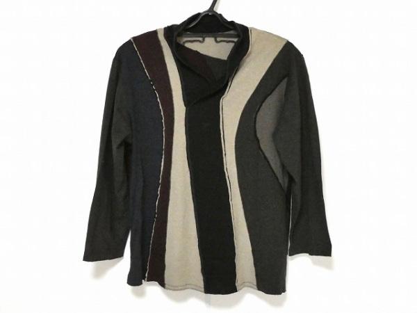 ヨーガンレール 長袖Tシャツ サイズM メンズ - - ダークグレー×ボルドー×マルチ