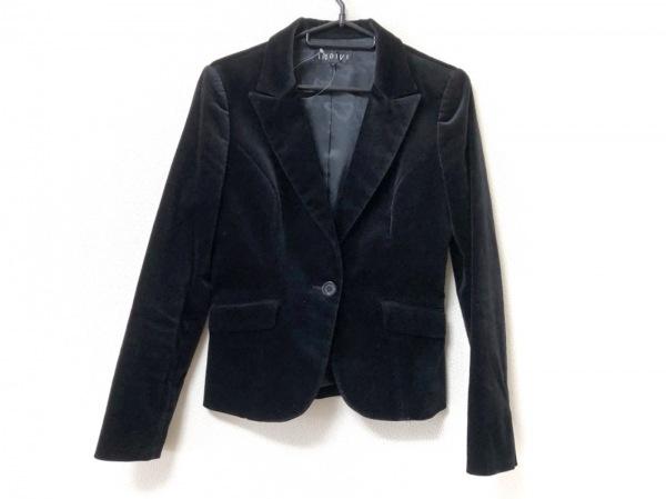 INDIVI(インディビ) ジャケット サイズ40 M レディース美品  黒 ベロア