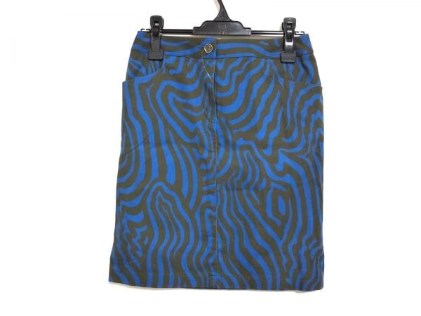 TAE ASHIDA(タエアシダ) スカート サイズ9 M レディース カーキ×ブルー