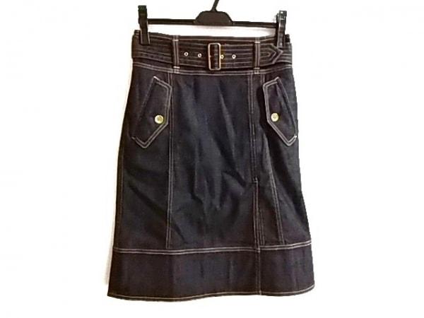 バーバリーロンドン スカート サイズ38 L レディース美品  ダークネイビー デニム