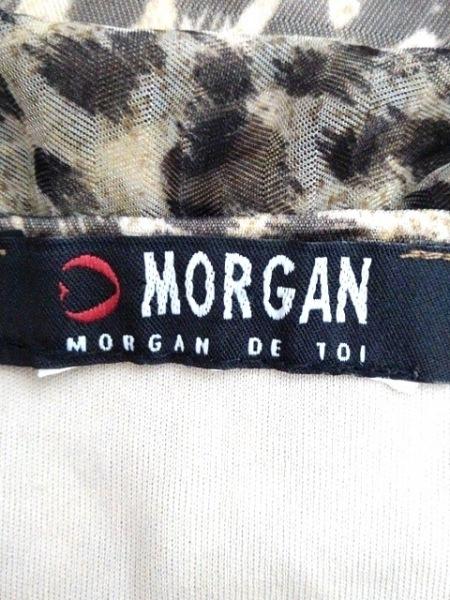 MORGAN(モルガン) ワンピース レディース ベージュ×マルチ フリル/アニマル柄