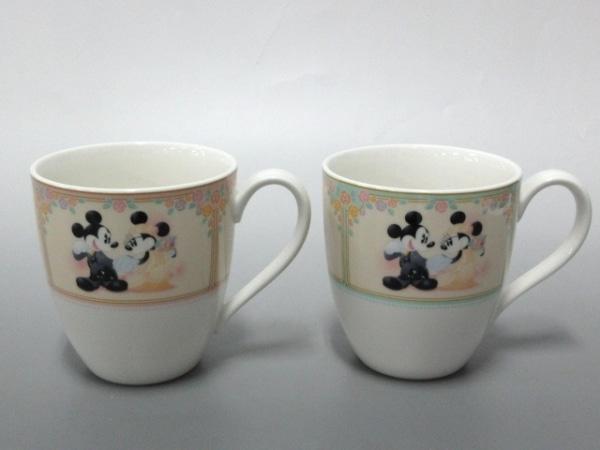 Noritake(ノリタケ) マグカップ新品同様  白×ピンク×マルチ 陶器 1
