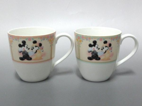 ナルミ マグカップ新品同様  白×ライトグリーン×マルチ 陶器 1