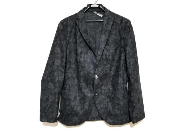 ムッシュニコル ジャケット サイズ46 XL メンズ美品  黒×グレー 花柄