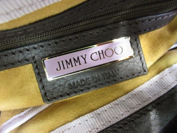 JIMMY CHOO(ジミーチュウ) トートバッグ ラモナ ダークブラウン レザー