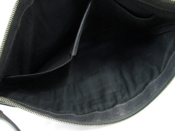 BALENCIAGA(バレンシアガ) クラッチバッグ クリップL 273023 ダークグレー レザー